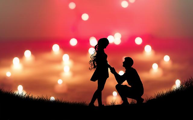 milenci si vyznávají lásku
